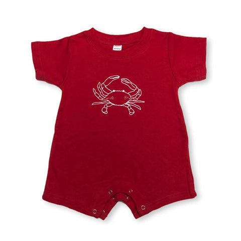 Kinda Crabby Short Sleeve Infant Romper