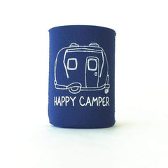 Happy Camper Neoprene Koozie - Honey Bee Tees - 1