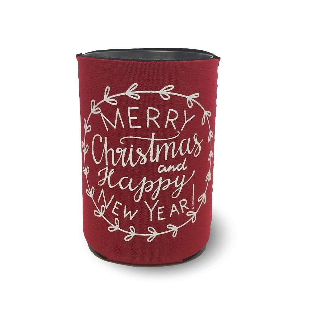 Merry Christmas & Happy New Year Koozie - Honey Bee Tees - 2