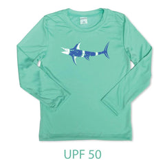 Marlin Long Sleeve Performance UPF 50 Tee