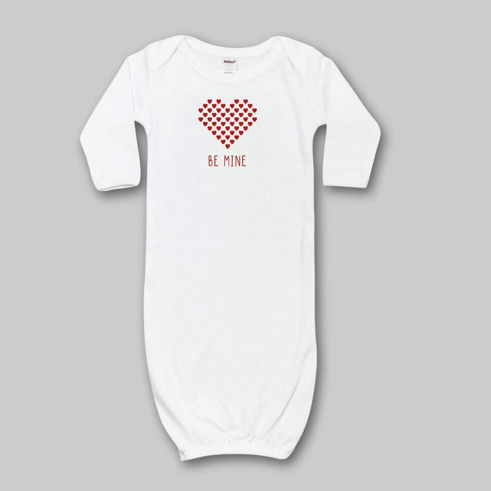 Be Mine Infant Day Gown - Honey Bee Tees