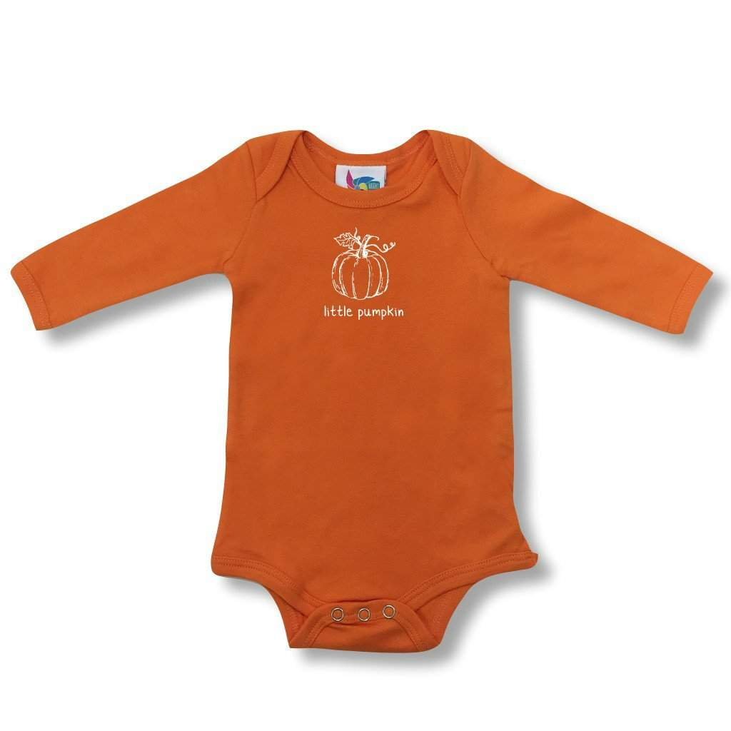 Little Pumpkin Long Sleeve Infant One-Piece - Honey Bee Tees - 1