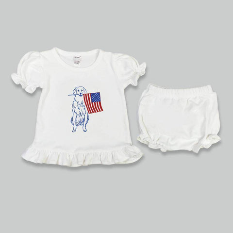 Patriotic Pup Bloomer Set