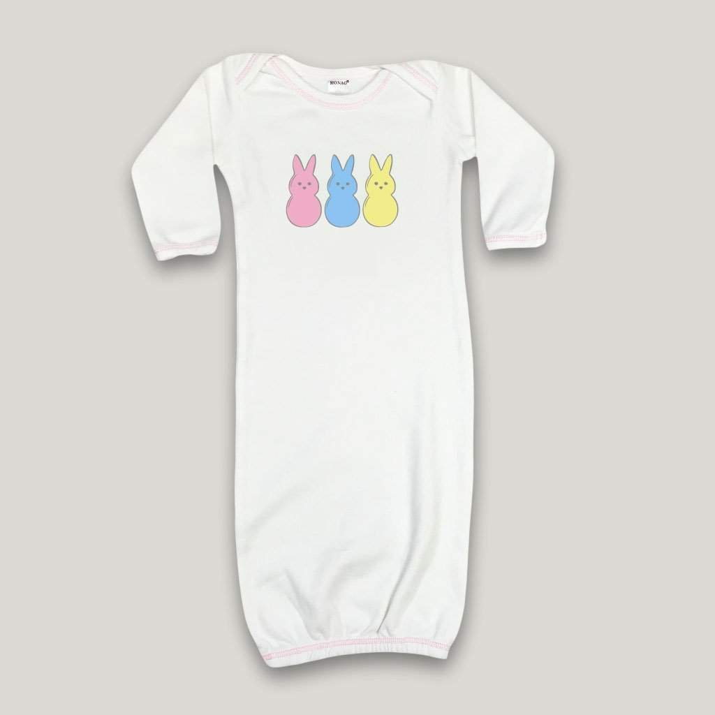 Marshmallow Bunnies Infant Daygown