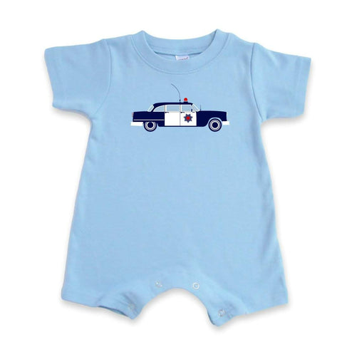Police Car Short Sleeve Infant Romper