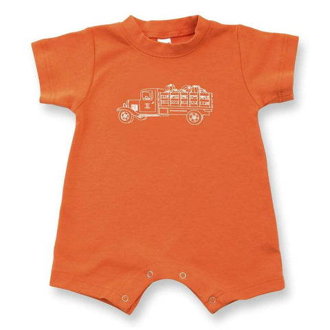 Pumpkin Truck Short Sleeve Infant Romper