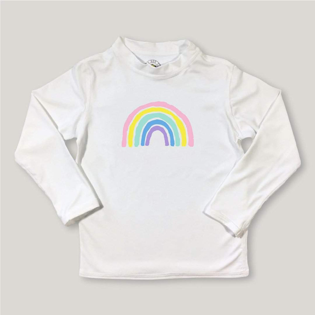 Rainbow Long Sleeve Rash Guard UPF 50+