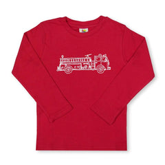 Fire Truck Long Sleeve Tee