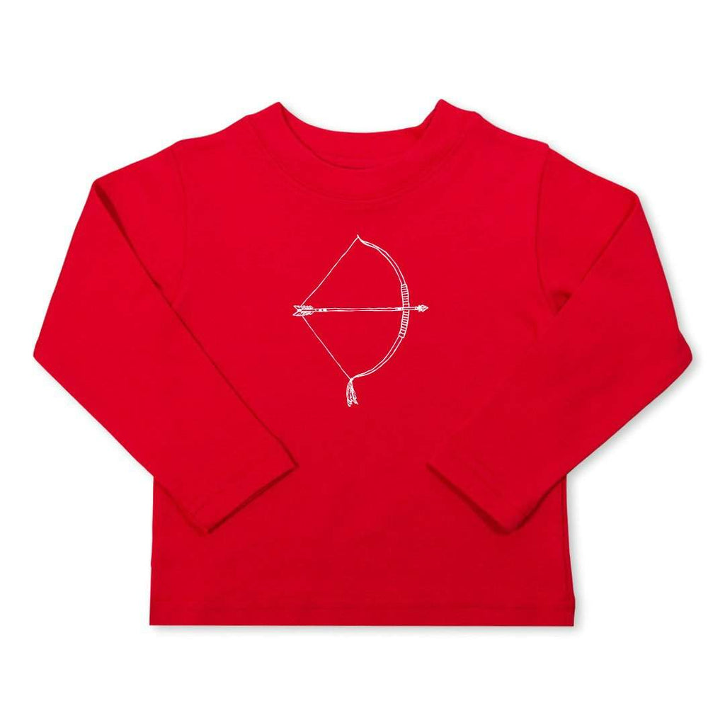 Bow & Arrow Red Long Sleeve Tee