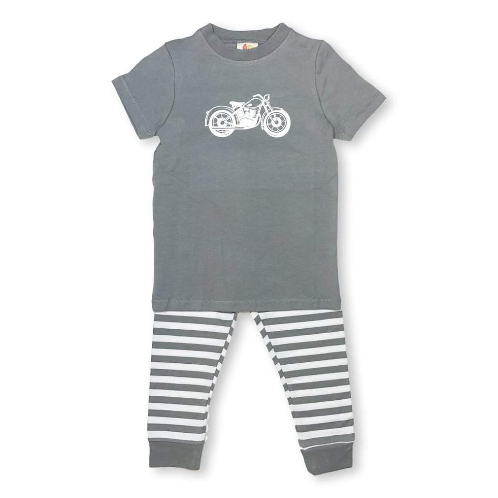 Motorcycle Short Sleeve Pajamas
