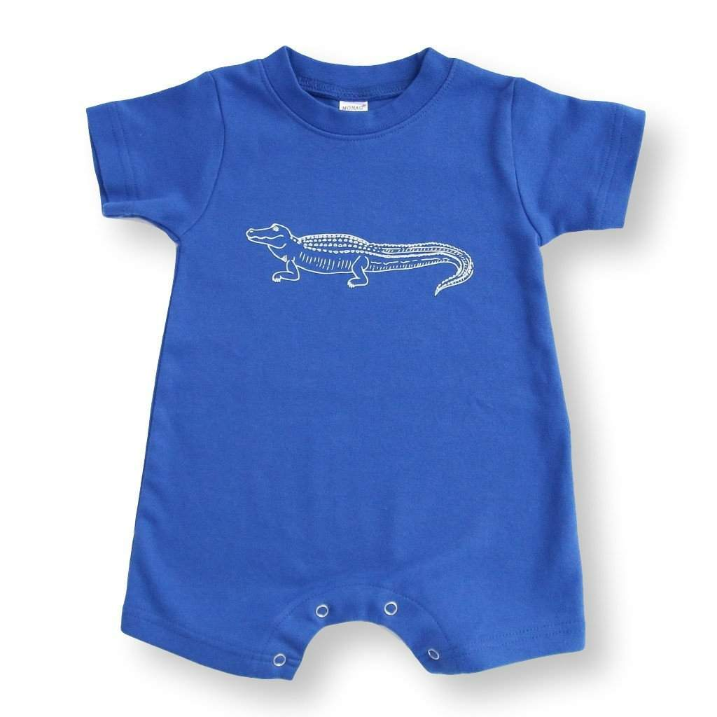 Romper - Alligator Short Sleeve Infant Romper
