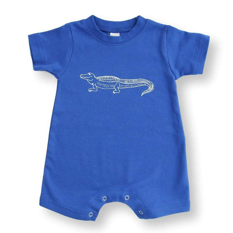 Alligator Short Sleeve Infant Romper