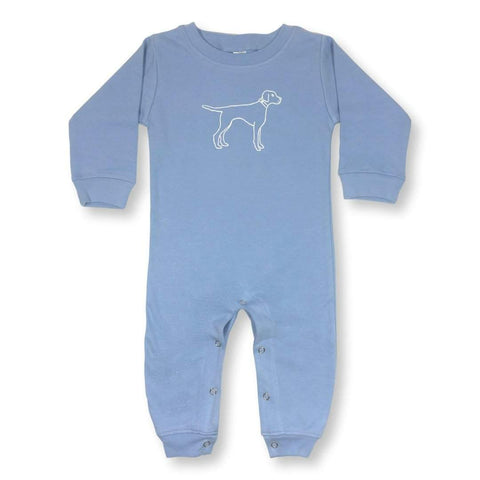 Bird Dog Long Sleeve Infant Romper