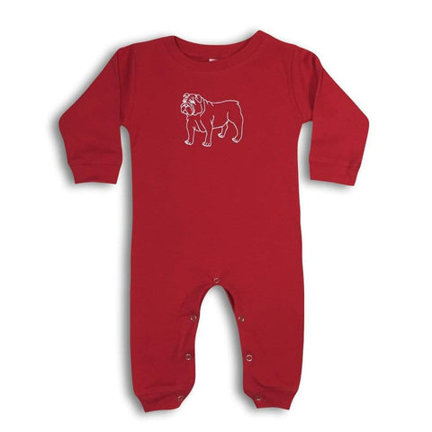 Bulldog Long Sleeve Infant Romper
