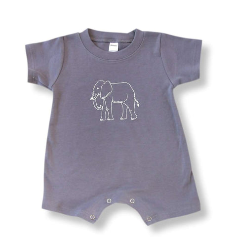 Elephant Short Sleeve Infant Romper