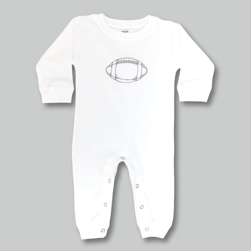 Football Long Sleeve Infant Romper - Honey Bee Tees