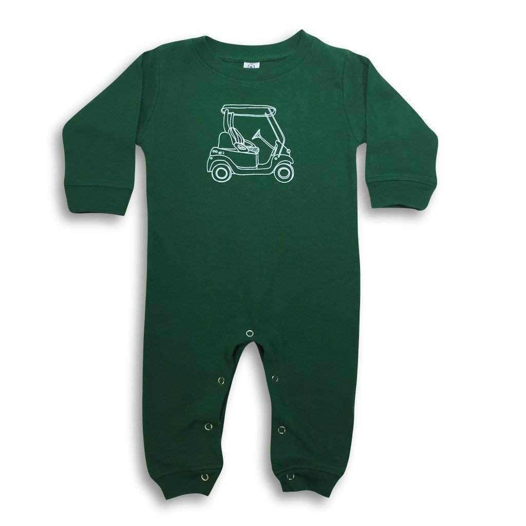 Golf Cart Long Sleeve Infant Romper - Honey Bee Tees