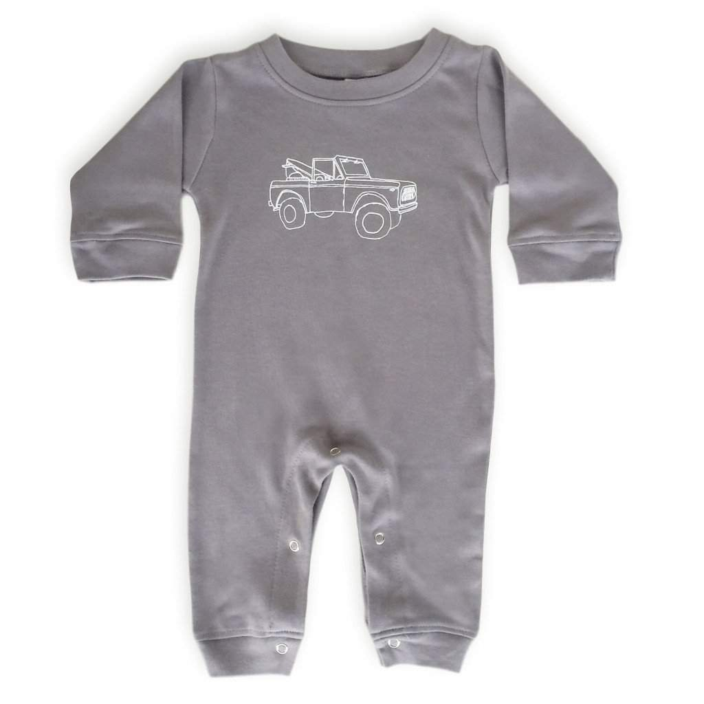 Off to the Bay Long Sleeve Infant Romper - Honey Bee Tees