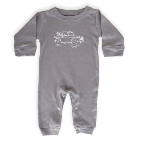 Off to the Bay Long Sleeve Infant Romper