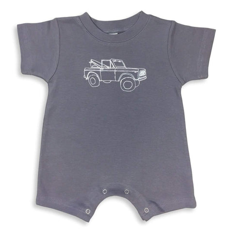 Off to the Bay Short Sleeve Infant Romper
