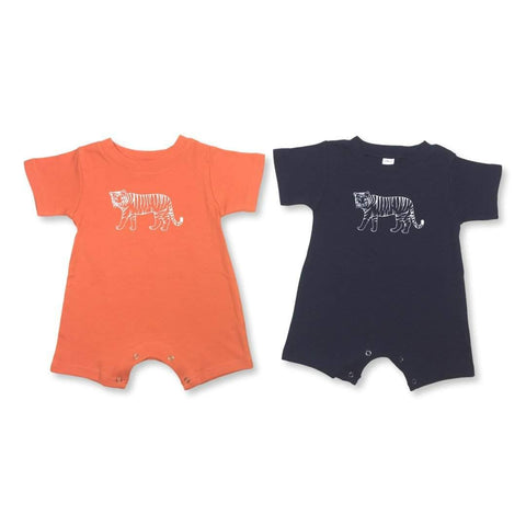 Tiger Short Sleeve Infant Romper