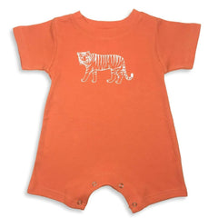 Tiger Short Sleeve Infant Romper - Honey Bee Tees - 2