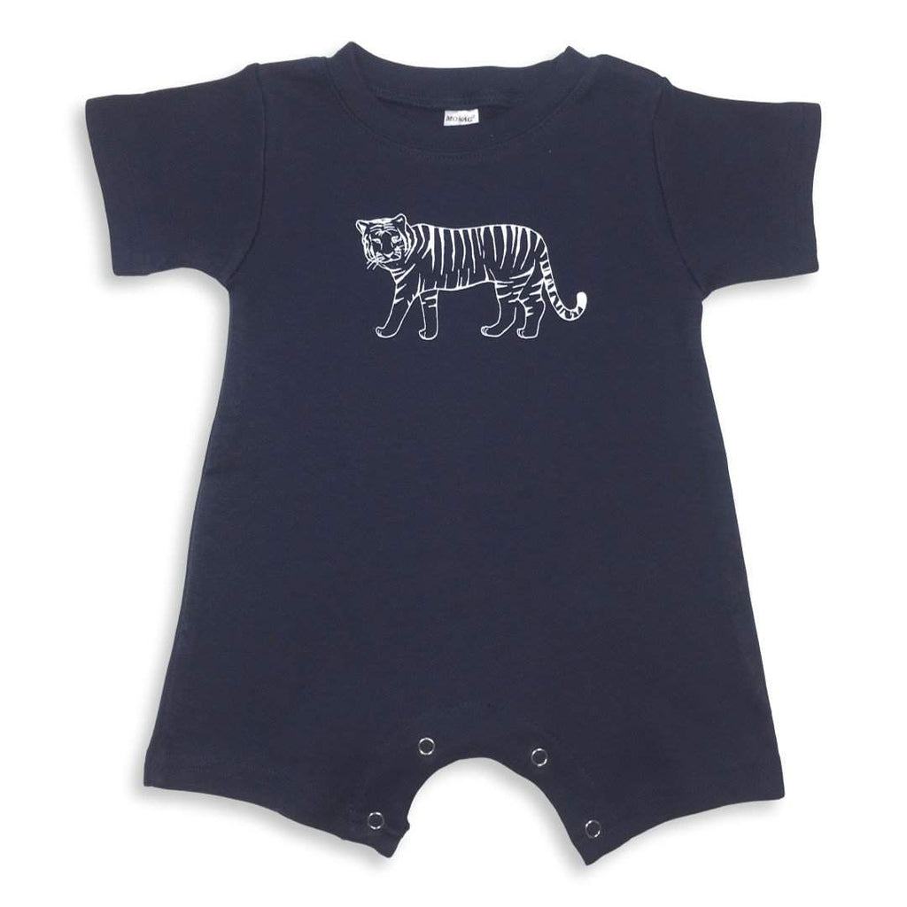 Tiger Short Sleeve Infant Romper - Honey Bee Tees - 3