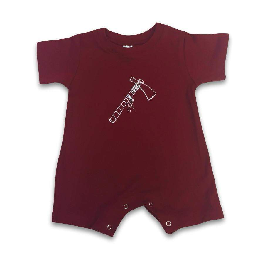 Tomahawk Short Sleeve Infant Romper - Honey Bee Tees