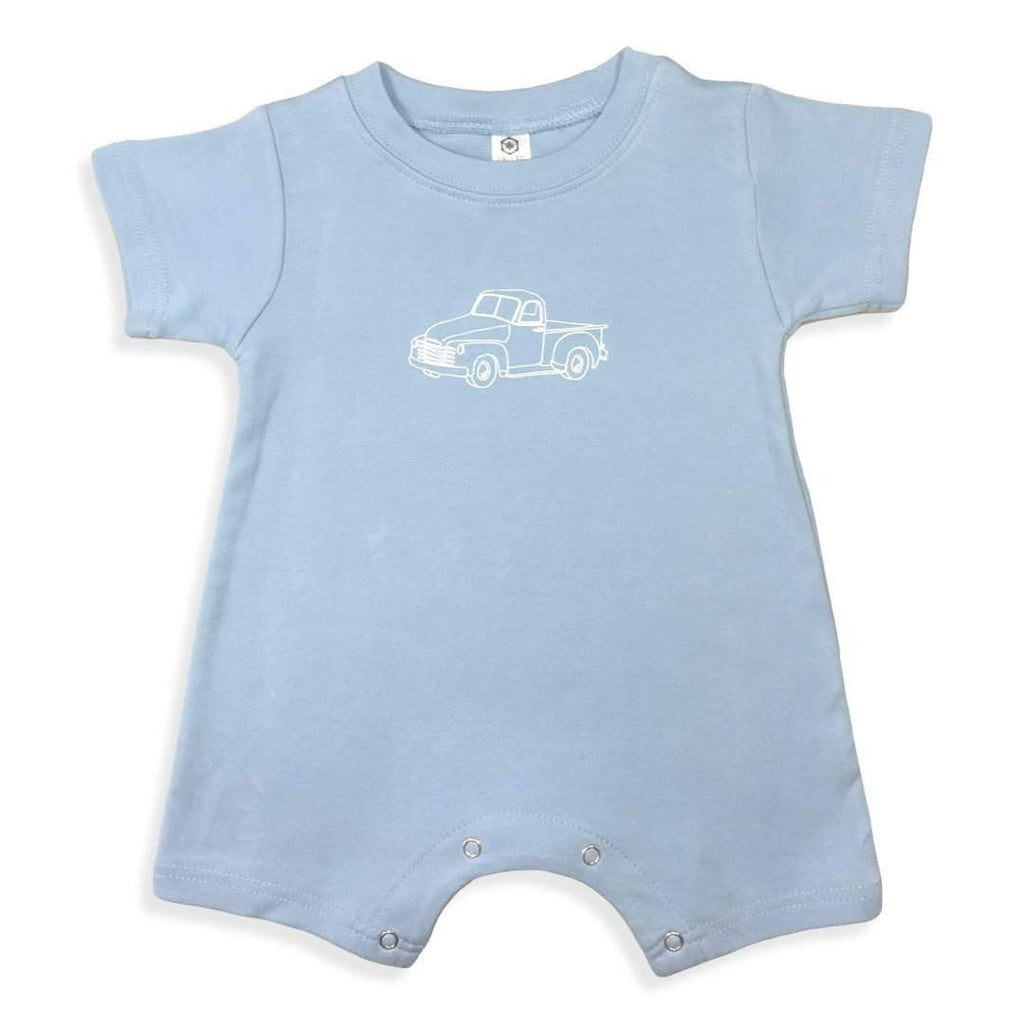 Romper - Vintage Truck Short Sleeve Infant Romper