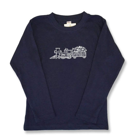 Santa's Steam Engine Long Sleeve Tee