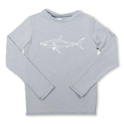 Shark Long Sleeve Rash Guard UPF 30+