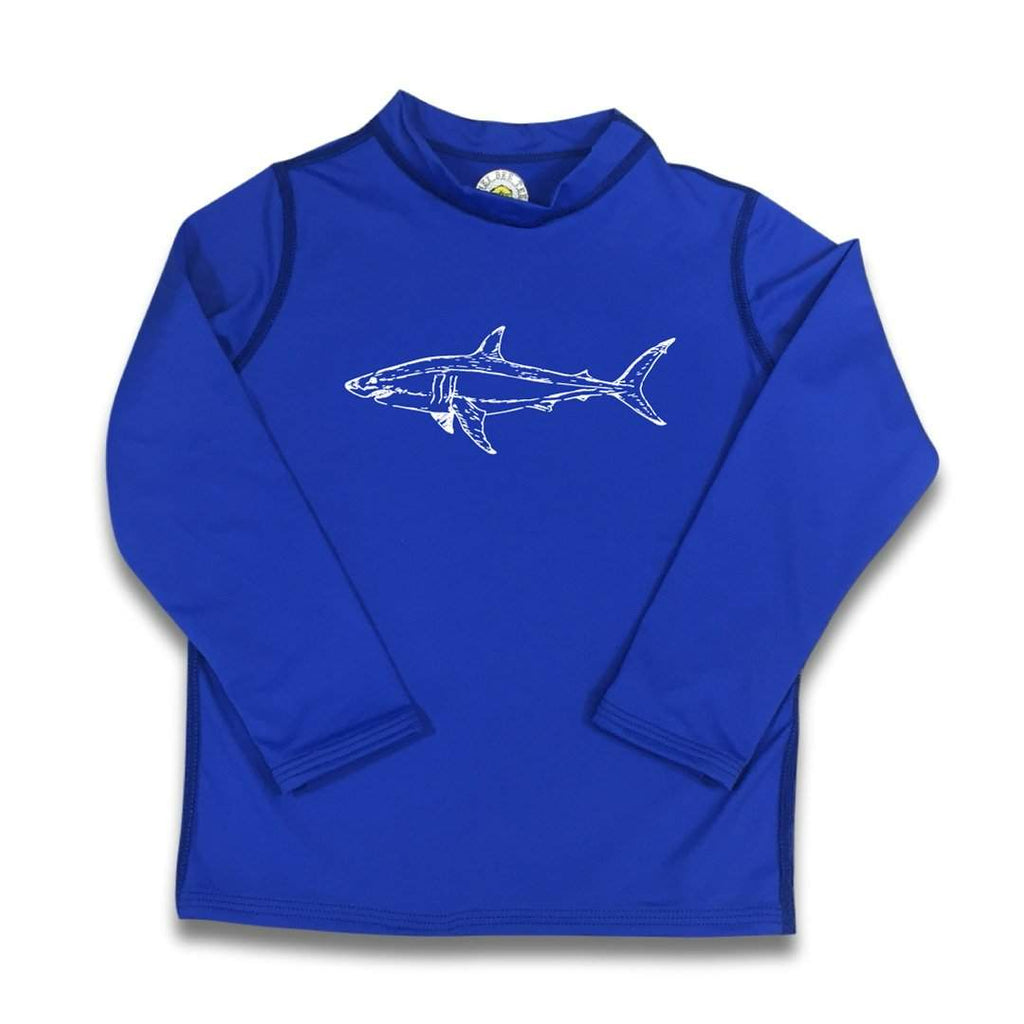 Shark Long Sleeve Rash Guard UPF 50+
