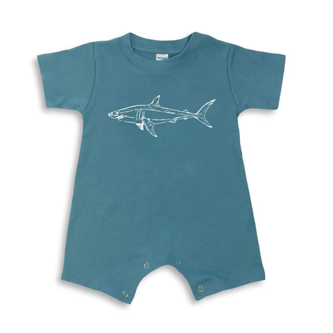 Shark Short Sleeve Infant Romper