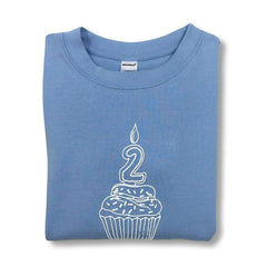 2nd Birthday Blue Long Sleeve Tee - Honey Bee Tees - 1
