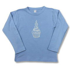 2nd Birthday Blue Long Sleeve Tee - Honey Bee Tees - 2