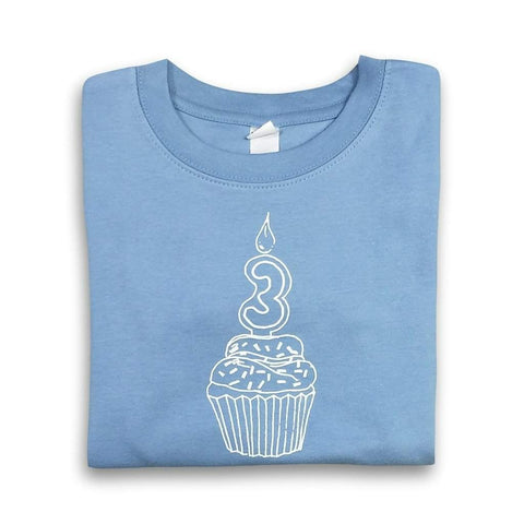 3rd Birthday Blue Short Sleeve Tee