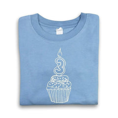 3rd Birthday Blue Short Sleeve Tee - Honey Bee Tees - 1