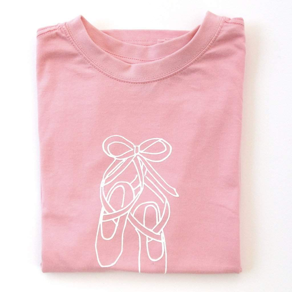 Ballet Slippers Short Sleeve Tee - Honey Bee Tees - 1
