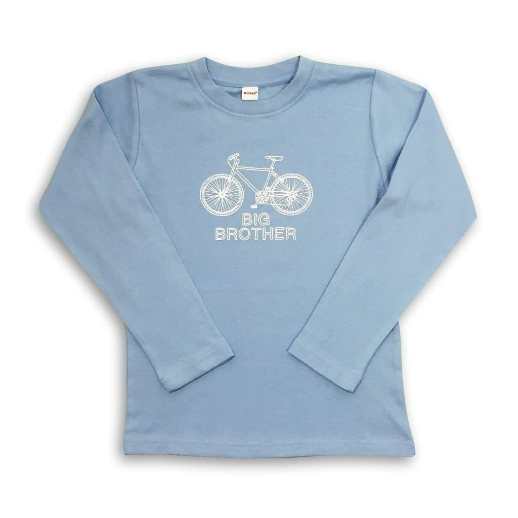 Big Brother Bicycle Long Sleeve Tee - Honey Bee Tees - 2