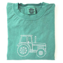 Big Green Tractor Long Sleeve Tee - Honey Bee Tees - 3