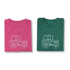 Big Green Tractor Long Sleeve Tee - Honey Bee Tees - 1