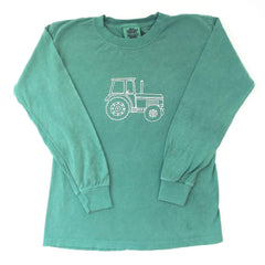 Big Green Tractor Long Sleeve Tee - Honey Bee Tees - 4
