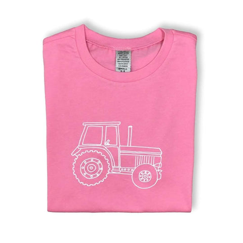 Big Pink Tractor Short Sleeve Tee