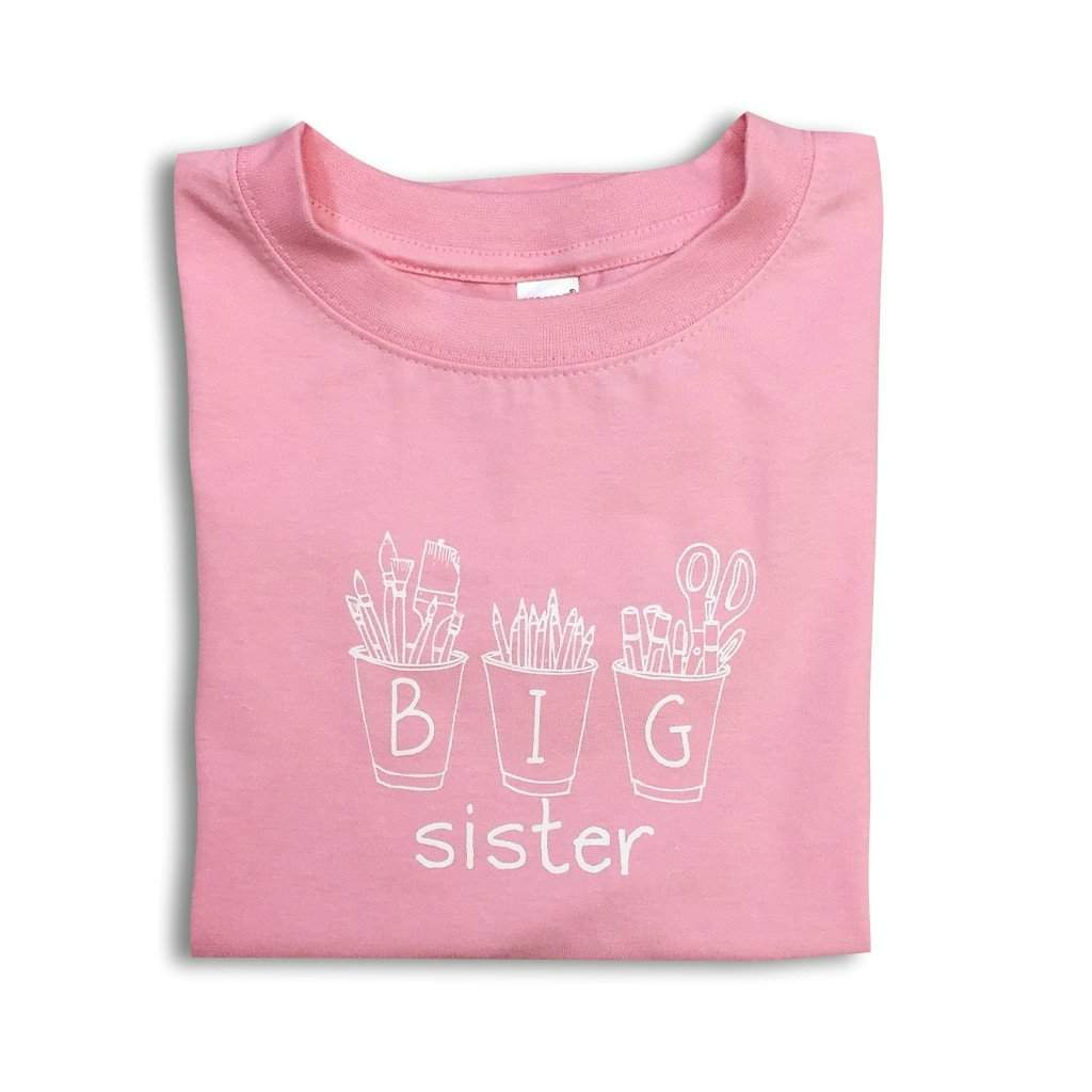 Big Sister Art Cups Short Sleeve Tee - Honey Bee Tees - 1