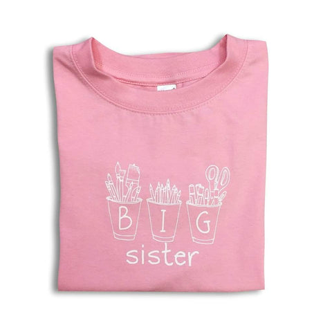 Big Sister Art Cups Short Sleeve Tee