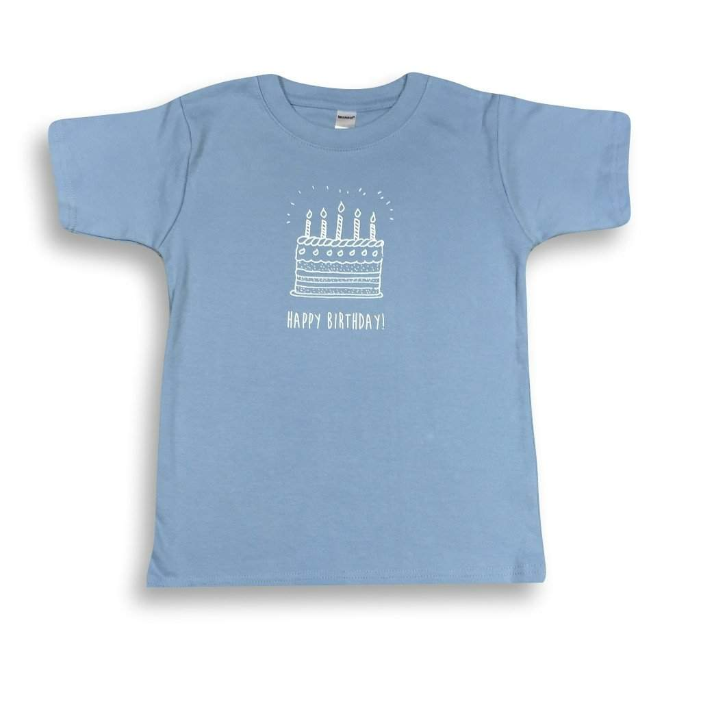 Birthday Cake Blue Short Sleeve Tee - Honey Bee Tees - 2