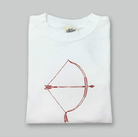 Bow & Arrow White Long Sleeve Tee