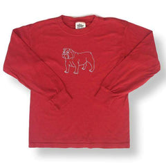 Bulldog Long Sleeve Tee - Honey Bee Tees - 2