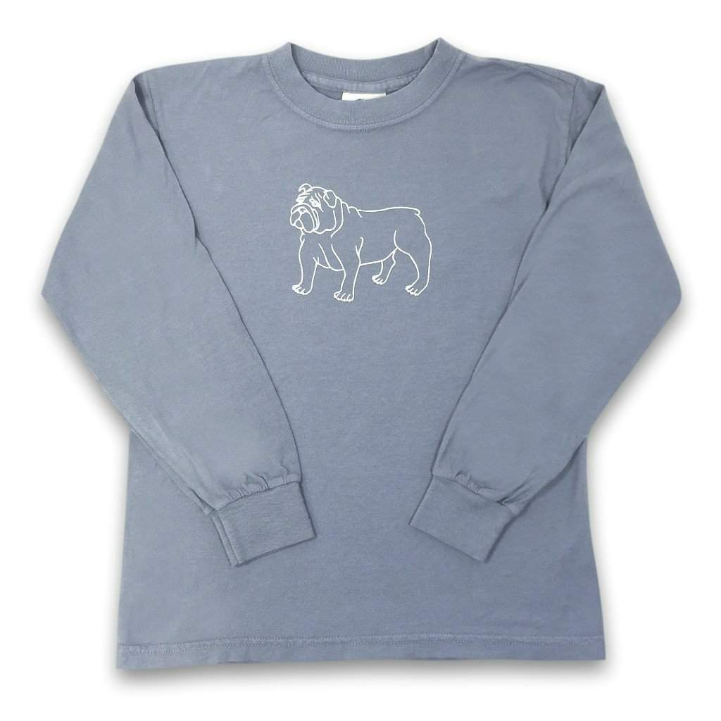 Bulldog Long Sleeve Tee - Honey Bee Tees - 3