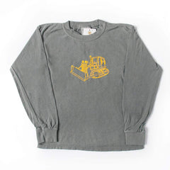 Bulldozer Long Sleeve Tee - Honey Bee Tees - 2